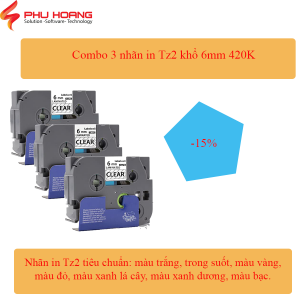 COMBO 3 NHÃN HZE TZ2 6MM