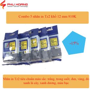 Combo 5 nhãn Tz2 Hze 12mm
